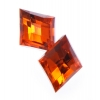 Acrylic 25x15mm Diamond Facet Orange